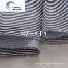 Tissu de lin en tafet imprimé en polyester 190t