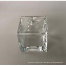 Bouteille en verre carré de 50 ml