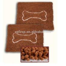 esteira absorvente do alimento de animal de estimação do cão do chenille