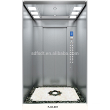 passenger elevator stainless steel with machine room for 6 persons ,passenger elevator price ,passenger lift factory, 1m/s