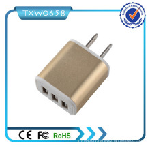 100-240V AC 50-60Hz 5V 2.1A 3 USB Wall Charger