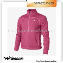 Новая мода розовый женщин беговой дорожки образец куртка