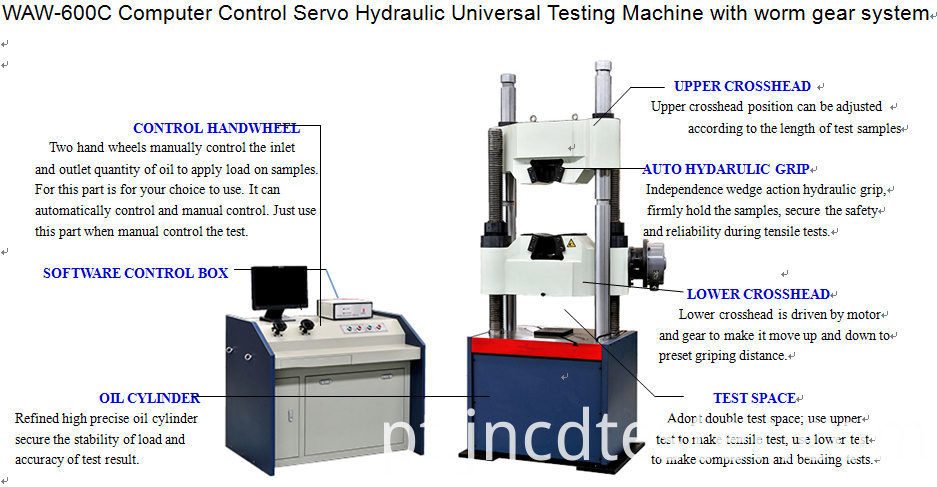600kn Universal Testing Machine Price