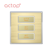 Smart hotel switches with different material