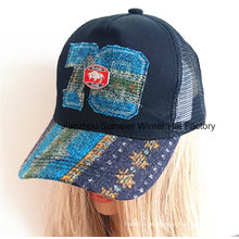 Raw Edge Applique Stickerei Echtes Leder Strap Baseball Cap