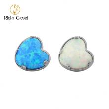 Custom Titanium Prong Set Titanium heart Drop Opal17/ Opal05 Labret Top Piercing Jewelry