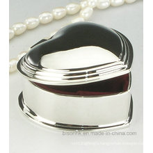 Simple Heart Shape Metal Necklace Box, Heart Necklace Box