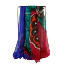 Echarpe en mousseline de soie à l'écharpe Infinity Light Weight