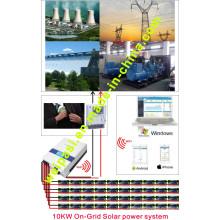 10KW Solar Sistema de generación de energía en la red; Producción de electricidad 50 ~ 70KWh / día