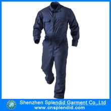 Custom Made Azul Algodão Segurança Trabalho Profissional Uniforme