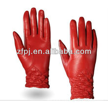 Latex Ladies sheepskin double face gloves