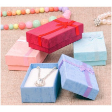 Liebe Farbdruck Uhr Papierbox, Bowknot Fashion Schmuckschatulle