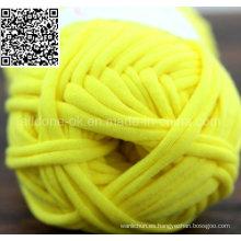 Tejer a mano Crocheting Fancy Tape Hook Bag Strip Camiseta Hilo