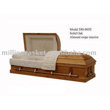 solid oak wood casket funeral wholesales supplies