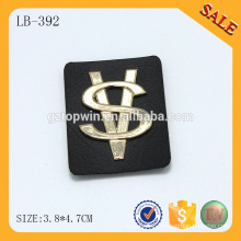 LB392 2016 hot sale stamping logo custom leather handbag patches