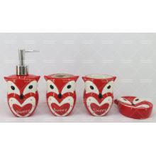 Ensemble de salle de bain en céramique en forme de hibou 4 pièces