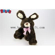 """11 """"Dark Brown bonito brinquedo de animais de pelúcia coelho em grosso Pirce Bos1147"""