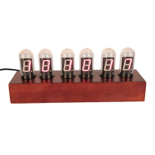 Wooden digital clock with second