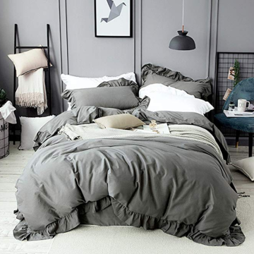 Cotton Ruffles Design Duvet Omslag