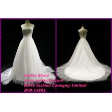 Spanish Lace Wedding Dresses Scoop Bridal Gown Floor Length Ladies Dress
