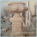 Outdoor Large Size Marble Travertine Flower Pot for Garden