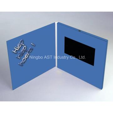 7.0 Inch Video Greeting Brochure, Digital Invitation Card, MP4 Greeting Cards