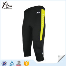 Mens Quick Dry 3/4 Sport Tights Fitness Wear Leggings