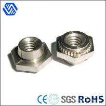 Tuercas de la rueda del cubo de la tuerca de la carretilla elevadora chapada en zinc de acero al carbono