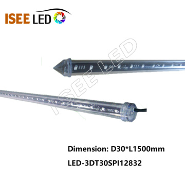 Venda quente SPI 3D LED tubo vertical