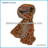 2014 high density leopard print voile scarf