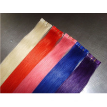 Extensiones de cabello humano brillante cinta de color claro 100% remy