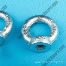 DIN582 tuerca de ojo de elevación de acero al carbono