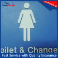Plástico durável superfície de pintura de superfície sinais de WC / sala