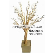 150CM Crystal Artificial Wedding Tree With Gold Silver White Color