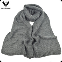 Men Winter Warm Acrylic Thick Knitted Scarf
