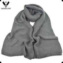 Hombres de invierno cálido acrílico grueso punto bufanda