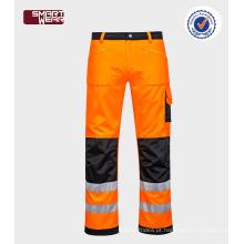 Novos produtos baratos calças de segurança oi-vis reflexivo TC pano de trabalho pant