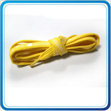 Custom Yellow Shoelace with White Color for Promotional