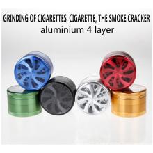 Broyeur à grains d'aluminium pour acheteur en gros avec différentes couleurs (ES-GB-022)