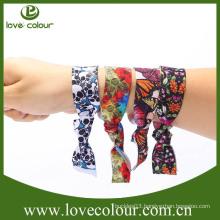Custom eco-friendly printed elastic fabric bracelet