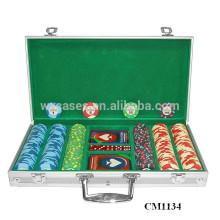 caja de aluminio de la esquina cuadrada 300 monedas