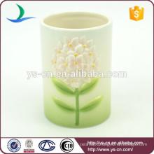 Floral Matching ceramic toothbrush holder