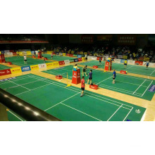 O revestimento dos esportes do PVC da alta qualidade do certificado de Bwf usou à corte de badminton 4.5mm