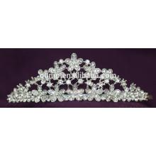 Rabatt Glänzende Haar Zubehör Kristall Braut Krone Custom Hochzeit Tiara