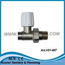 Straight Radiator Valve for Soldering to Copper Pipes (V21-007)