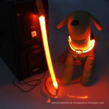 Led usb rechargeable dog collars Led pet dog leash
