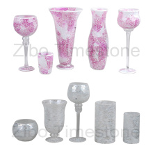 Vasos de vidrio de mosaico de arte (TM1815)