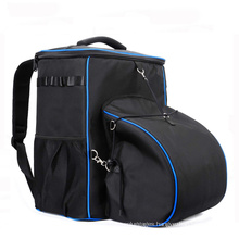 Portable Tool Storage Bag Polyester Heavy Duty Backpack Tool Bag With Helmet Compartment