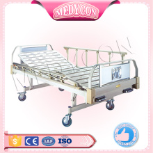 2 function medical hospital adjustable manual bed aluminium folding bed