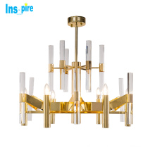 Wholesale Customization Modern Gold Ceiling Lamp Crystal Chandelier For Living Room